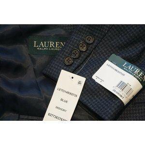 Lauren Ralph Lauren Blue Houndstooth Sport Coat